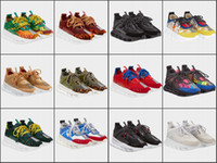 Wholesale mens box chains for sale - Group buy 2019 Chain Luxury Retro Running Shoes Mens Womens Top Quality New Original Trainers Sneakers Color Splicing Chaussures Without Box