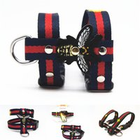 Wholesale ship safety harness resale online - Fashion Cat Collars Nylon Pet Traction Rope Suit Outdoor Cat Safety Products Designer Leashes