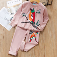 Wholesale kids long pants for girls resale online - Girls Clothing Sets Girls Clothes Long Sleeve T shirt Pants for Kids Clothing Sets Children Clothing