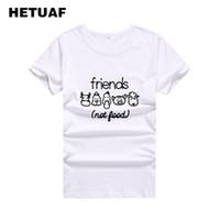 d561abb2f56 Women s Tee Hetuaf Vegan Animals T Shirt Women Friends Not Food Funny  Graphic Tees Women Tops Vegetarian Tshirt Women Print Camisetas Mujer