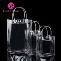 ingrosso regalo di rosa dentellare-I sacchetti della spesa rosa di sugao della borsa impermeabile del pacchetto della borsa del regalo del PVC trasparente di alta qualità possono stampare il logo su ordinazione e molte dimensioni all'ingrosso