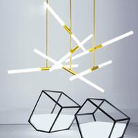 minimalist masa lambaları toptan satış-Post modern basit oturma odası lambaları yaratıcı minimalist yemek odası aydınlatma mağazası ön büro restoran avize kristal kabarcık lamba
