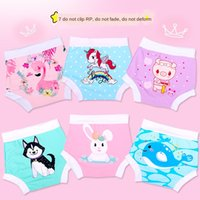 Wholesale xl baby diapers resale online - c96va Children s cartoon baby boy Diaper diaper trunks diapers boy baby s cute swimming pants baby s swimming leak proof diapers years o