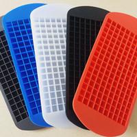 eismaschine farbwürfel großhandel-160 Eiswürfel Eiswürfel Gefrorene Mini Cube Silikonform Maker Für Kitchen Bar Party Getränke Form Tablett Pudding Werkzeug 6 farbe WX9-1273