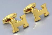 cufflinks venda venda por atacado-venda quente camisa abotoaduras homens de luxo de casamento para Rose ouro ou prata / cobre de ouro carimbar botão manguito com a moda de metal presente abotoadura