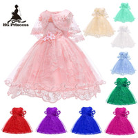 Wholesale teenagers party dresses for sale - Group buy Kids Prom Princess Dress Teenager Cotton Lace Princesee Dress Child Girl Wedding Birthday Party Dress Years Old Girl Skirt