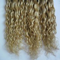 renk 27 kıvırcık toptan satış-T1 / 27 Renk Ombre Sapıkça Kıvırcık Remy Saç Dokuma% 100% İnsan Saç Dokuma Brezilyalı Saç Örgü Demetleri 1 Parça