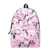 рюкзаки для птиц оптовых-Женский рюкзак для ноутбука Women Bird Prints Fahion маленький милый рюкзак школьные сумки для колледжа для девочек-подростков Travel Back Pack
