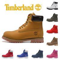 stiefel d großhandel-Timberland Brand Yellow Boots Luxus Designer Herren Stiefel Military Women Triple Schwarz Weiß Camo Leder Knöchel Mode Sport Sneaker 36-45