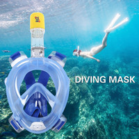 Wholesale snorkelling masks for sale - Group buy Rkd Diving Mask Underwater Scuba Anti Fog Full Face Diving Mask Snorkeling Set With Anti Skid Ring Snorkel New Arrival