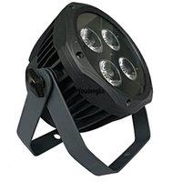 led uv luz plana venda por atacado-4 peças Hot novo produto DMX 512 led plana par luz Ao Ar Livre 4x18 w mini rgbwa uv 6 EM 1 par levou
