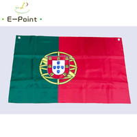 Wholesale portugal flags resale online - No cm cm size European Flag of Portugal Top Rings Polyester flag Banner decoration flying home garden flag Festive gifts