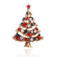 ingrosso albero sempreverde-L'Europa e gli Stati Uniti popolari vecchi vestiti retrò albero di Natale sempreverde città collare di spilla