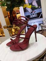 кристалл с открытыми пальцами оптовых-Классические женские высокие каблуки, босоножки с ремешками, инкрустированные Кристаллом, босоножки с открытым носком на шпильке-высота 10,5 см