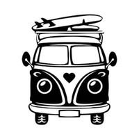 adesivos de carro de surf venda por atacado-Estilo de lazer campista placa de surf romântico moda vinil carro etiqueta CA-471