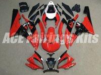 conjunto de plástico yamaha r6 venda por atacado-New carenagens Kit Fit For Yamaha YZF R6 600 06 07 YZF-R6 2006 2007 plástico ABS Motos carenagem conjunto personalizado vermelho preto brilhante
