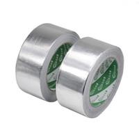 fita de alumínio venda por atacado-1 pc 5s 13 s À Prova D 'Água Folha De Alumínio Vedação de Alta Temperatura Da Tubulação de Reparos de Prata Fita 4.8 cm x 24 m Q190605