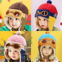 Wholesale kids plush hat cap resale online - Baby Kids Winter Hats Colors Cartoon Plush Knitting Thickening Kids Caps Kids Casual Hat Girls Newborn Baby Winter Hat M