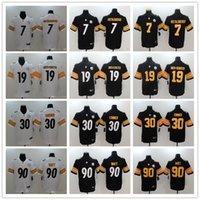 ben jerseys achat en gros de-Steelers Femmes, Pittsburgh, Femmes, Femmes 19 JuJu Smith-Schuster 90 T.J. Watt 7 Ben Roethlisberger 30 James Conner - Maillots de foot sur mesure