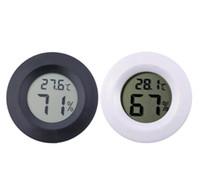 Wholesale digital lcd thermometer freezer resale online - Mini Round LCD Digital Thermometer Hygrometer Fridge Freezer Tester Temperature Humidity Meter Detector Home Measuring Tool VT0171