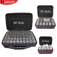 trousses à outils perles achat en gros de-vente en gros accessoires de peinture de diamant bouteille de stockage de perles de broderie diamant sac à main multi-fonction 15/30/60 fentes outils kits