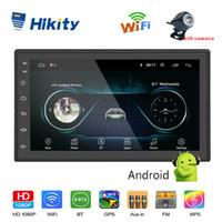 cigarros chinos al por mayor-Hikity 2 din MP5 Android Multimedia Car Audio Player GPS de navegación DVD de 7 pulgadas con Bluetooth FM WIFI AUX radio auto Wifi de la ayuda de la cámara del coche