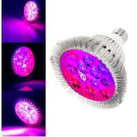 led recife luz espectro completo venda por atacado-Full Spectrum 36 W LEVOU Crescer Luz E27 Par38 PAR30 de Alumínio Reef Coral Planta Interior Crescer Lâmpada para Hidroponia Com Efeito Estufa AC85-265V
