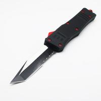 cuchillos rojos al por mayor-A161 diablo rojo demonio doble acción caza cuchillo plegable regalo de Navidad cuchillo para hombres 1 unids envío gratuito