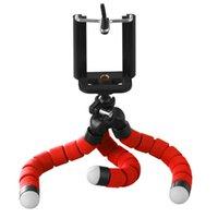 suportes para câmera móvel venda por atacado-Camera Phone Holder Flexível Octopus Tripé Bracket Stand Holder Mount Monopod Para Samsung Smart telemóvel