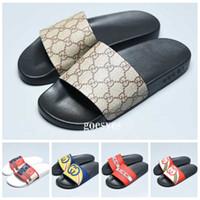 Wholesale ace boots resale online - 2019 designer slides Luxury Men Women Sandals luxury Slippers Flip Flops Rihanna ace women sandals Non slip designer Slippers whit box