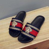 sandal çift toptan satış-Çift Plaj Terlik Gelgit Marka Açık Kaymaz Sandalet Unisex Moda Scuffs Sandalet Kadın Erkek Kapalı Ev Ayakkabı