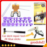 Paint Care Collection Here Car Pdr Dent Repair Tool Set Professional Vehicle Paintless Repair Tools glue Sticks With 12v Glue Gun+windscreen Glass Tools
