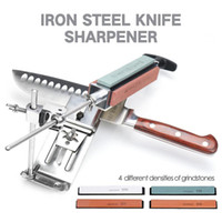 Wholesale professional stainless steel kitchen tools for sale - Group buy Iron Steel Kitchen Sharpener Professional Kitchen Knife Sharpener Sharpening Tools Fix angle With Stones Whetstone Kitchen Tools