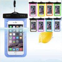 caja del teléfono de plástico a prueba de agua al por mayor-La caja del teléfono celular de la caja seca impermeable al aire libre bolsa de plástico PVC Deporte Celular Protección universal para el teléfono elegante 4.7 pulgadas / 5.5inch