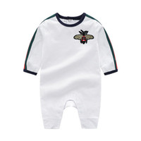 Wholesale infant bee for sale - Group buy New Baby Rompers Spring Autumn Baby Boy Clothes New Romper Cotton Newborn Baby Girls Kids Designer cartoon Bee Infant Jumpsuits Clothing