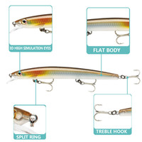 Wholesale bionic minnow fishing lures for sale - Group buy New Realistic Fish Floating Minnow Laser Swimbaits g cm D Eyes Bionic Swimming baits Longcasting Fishing lure