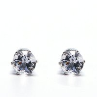 ingrosso i cristalli iniziano i fori-Bianco Nero Magnetic Magnetic Ear Stud Facile Usa Crystal Stone Orecchini per le donne Uomini Orecchini Clip On No Ear Hole Gif 1 paio