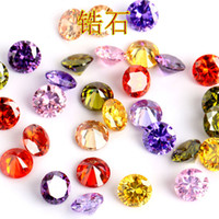 Wholesale natural gemstone 12mm resale online - 12 Colors High Quality Artificial Gemstone Natural Zircon Stone Round Shape mm DIY Beads