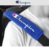 Wholesale belts supplies resale online - Car supplies universal safety belt shoulder cover CHAMPION Car interior Seat belt attachment fit all cars