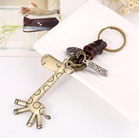 Wholesale giraffe key ring for sale - Group buy Giraffe Key Chain Key Chain Key Ring Will and Sandy Drop Ship