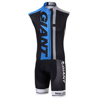 Wholesale maillot cycling china for sale - Group buy GIANT Ropa Ciclismo Maillot Cycling Skinsuit Triathlon Suit Cycling Clothes China Men s Sleeveless Cycling Jersey Jumpsuit