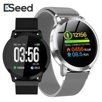 ip67 bewertung großhandel-eSeed ES02 Smart-Armband CF18 Uhr IP67 wasserdicht gehärtetes Glas Activity Fitness Tracker Pulsuhr Sport pk id115 plu
