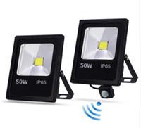 projecteurs de mouvement achat en gros de-Capteur de mouvement LED Projecteur 10W 30W 50W 220V Projecteurs recherchant une lampe IP65 réflecteur foco led extérieur Spot extérieur