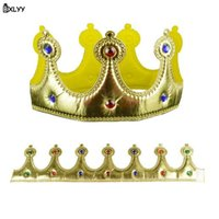 decoraciones de la fiesta de cumpleaños del príncipe al por mayor-BXLYY 1pc Children's Crown Prince Princess Crown Hat Fiesta de cumpleaños Decoración Navidad Halloween Año Nuevo Baby Shower Gift.7z