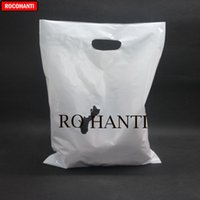 Wholesale store bags resale online - 100x Plastic shopping bag custom store clothing retail packaging bag high pressure dig a hole polyethylene white x25cm