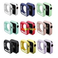 Wholesale silicone resistance bands resale online - Watch Case for iWatch Series Cover Fall Resistance Soft TPU Silicone Case for Apple Watch mm mm mm mm Cover Band Strap