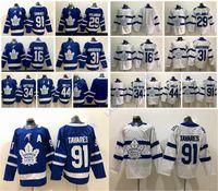ingrosso foglia di acero bianco-Toronto Maple Leafs Jersey 2019 John Tavares Auston Matthew nylander Frederik Andersen Matthew Morgan Rielly Hockey su ghiaccio impunturato Bianco Blu