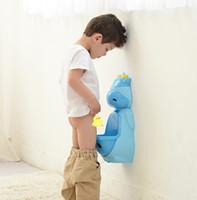 baño de entrenamiento para niños al por mayor-Boy Potty Training Aseo bebé Kid Urinario Pee Entrenador orina accesorios de baño Soporte de los niños Urinario vertical Niños Penico Pee