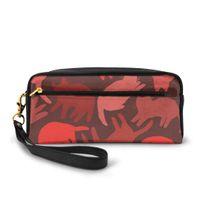 Wholesale elegant phone holder online – NOISYDESIGNS Red Cats Kawaii Wallet Women Long PU Leather Female Clutch Purse Female Phone Bag Girl Card Holder Elegant Pouch