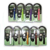 batería ajustable kit vape al por mayor-Vertex Kits de batería de precalentamiento VV Kit de inicio de precalentamiento co2 Vaporizador de aceite Vaporizador Vape Pen 510 Vape Voltaje variable ajustable Cartucho de 350 mah